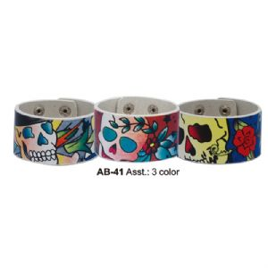 Printed wristbands- old skool tattoo style goth punk emo fashion